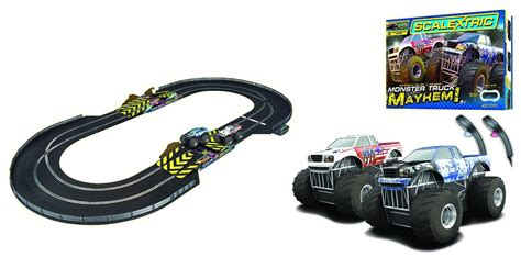 monster truck race track toys scalextric 1 32 scale monster truck mayhem race set