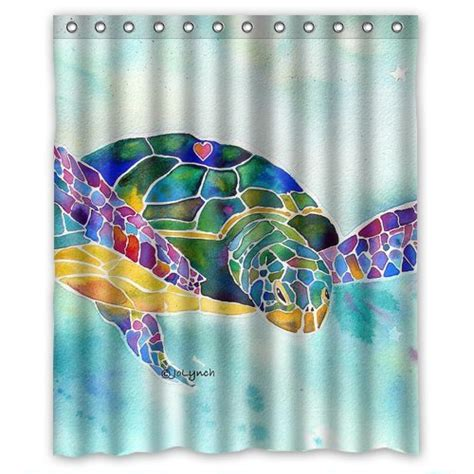 sea turtle shower curtains kritters in the mailbox sea