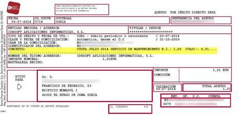banco de recibos desglose impuestos recibo en papel que el banco env 237 a