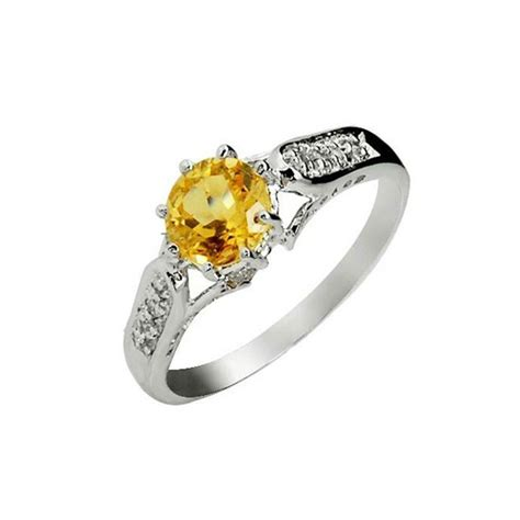 1 50 carat citrine engagement ring on silver jewelocean