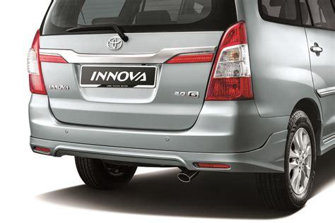Toyota Gear Price Malaysia 2014 Toyota Innova Facelifted In Malaysia