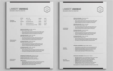 Cv Template Pages The Best Cv Resume Templates 50 Exles Design Shack