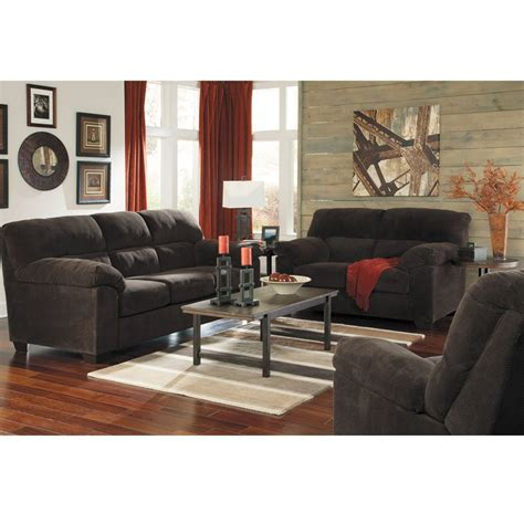 rent to own zorah chocolate sofa and loveseat set