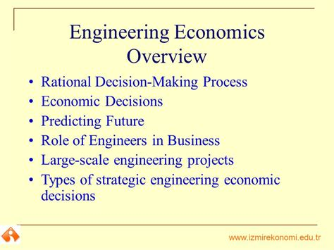 Economics Engineering 5 l1 engineering economic decisions ppt