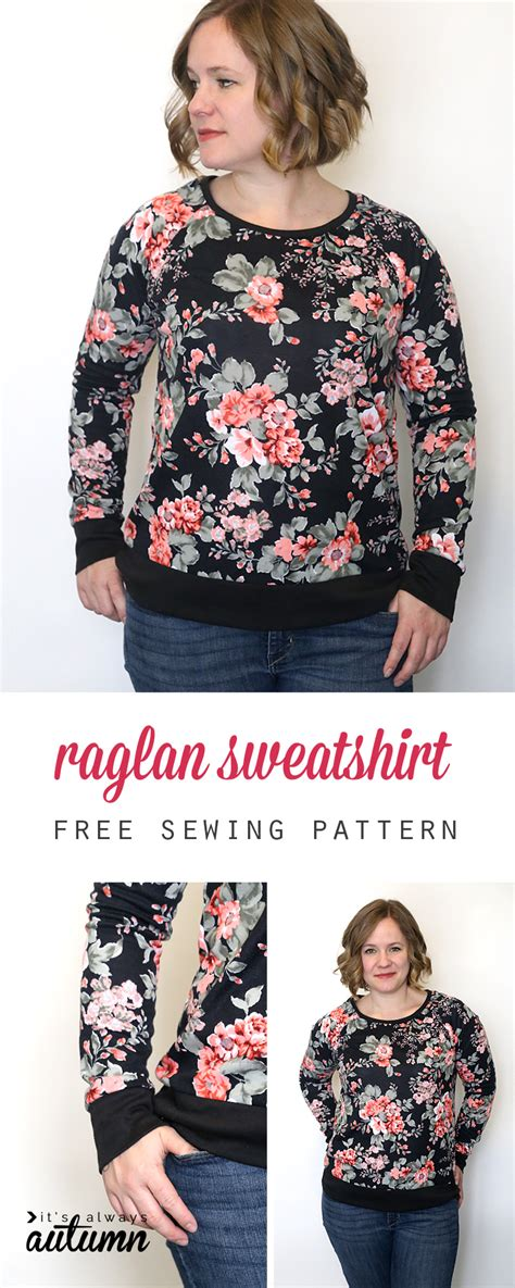 sweatshirt pattern free long sleeve raglan sweatshirt free sewing pattern it s
