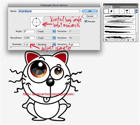 doodle kucing alin s jom lukis kartun kucing comel di adobe