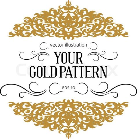 Black White And Gold Home Decor by Vintage Golden Border Stock Vector Colourbox