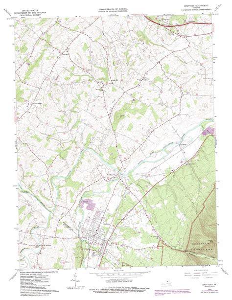 virginia topographic map grottoes topographic map va usgs topo 38078c7