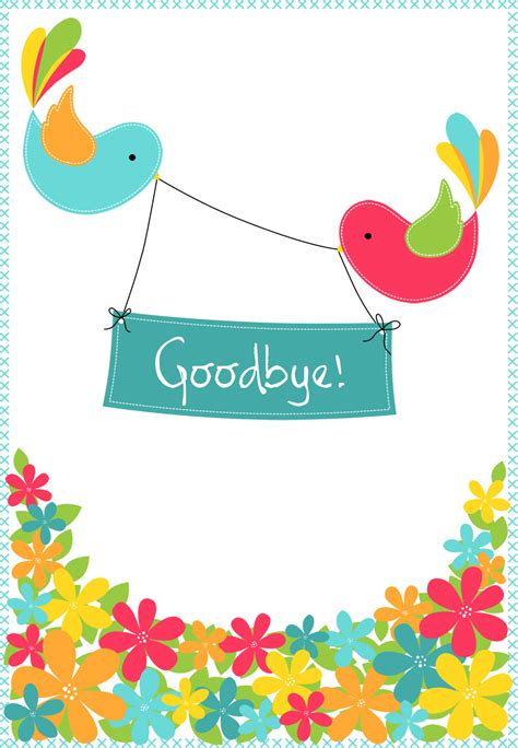 farewell card template free goodbye from your colleagues free luck card