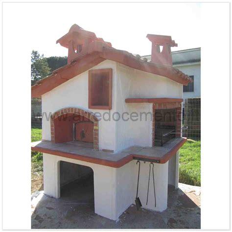 forni a legna e barbecue da giardino forno e barbecue a legna francia cm180x200x260h in cemento