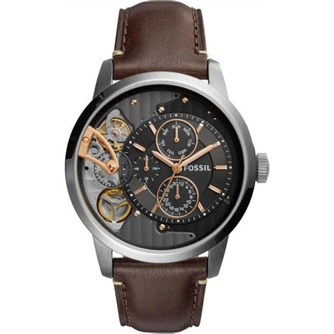 Fossil Twist montre fossil twist me1163 montre cuir automatique homme