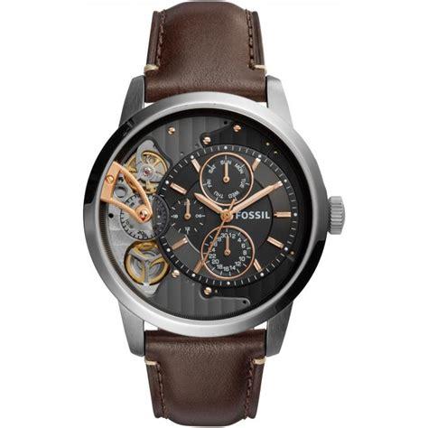 montre fossil twist me1163 montre cuir automatique homme sur bijourama montre homme pas cher