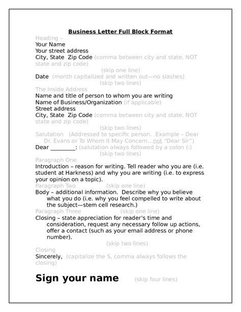 Application Letter Format Block block letter format letter format 2017