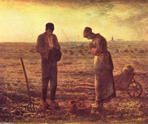 angelus paint canvas the angelus on canvas by jean fran 231 ois millet 1814