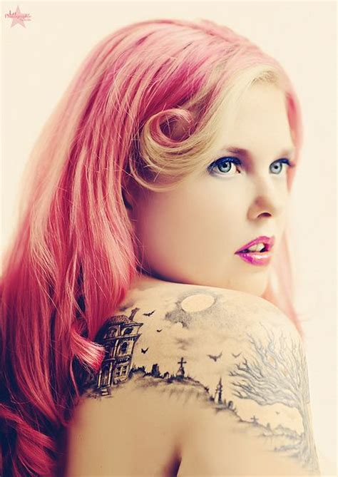 tattoo shoulder hair red hair girl house tattoo on shoulder tattoomagz