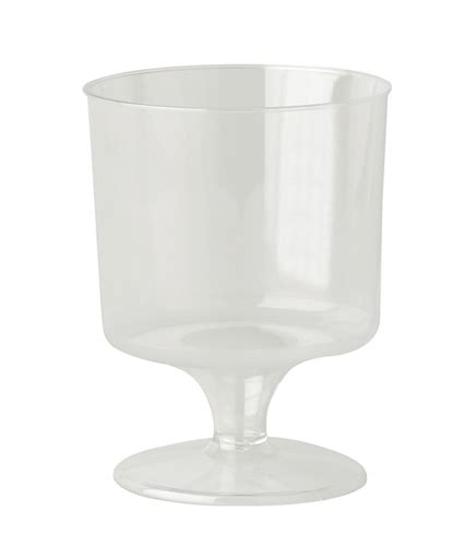 Xmas Storage Containers - 6oz plastic wine glass stemmed single piece disposable wineglasses and champagne glasses