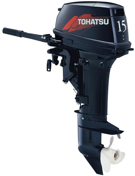 tohatsu m15hp two stroke outboard motor family boats