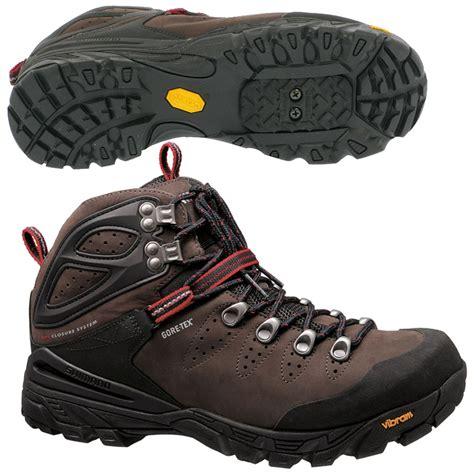 hiking shoes for mountain biking shimano mens mt91 waterproof goretex hiking walking boot