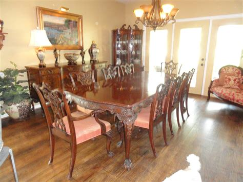 Antique Dining Room Suites For Sale by Romweber Chippendale 12 Dining Room Suite