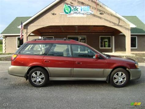 red subaru outback 2004 regatta red pearl subaru outback h6 3 0 wagon