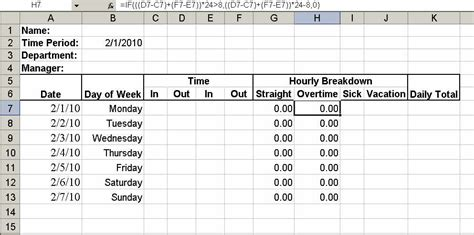hours worked spreadsheet template build a simple timesheet in excel techrepublic