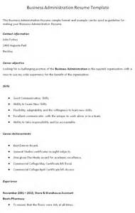 business administration resume objective exles
