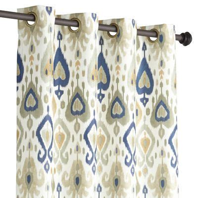 Gray And Gold Valance Ikat Curtain Gray Gold 96 Quot Office Studio