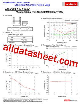 murata capacitors datasheet grm188r72a104k datasheet pdf murata manufacturing co ltd