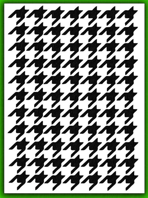 new houndstooth airbrush stencil template pattern paint