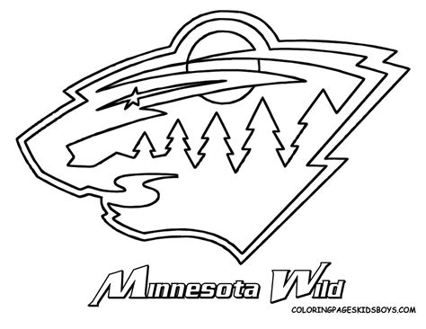 images of the wild hockey team nhl logos nhl coloring