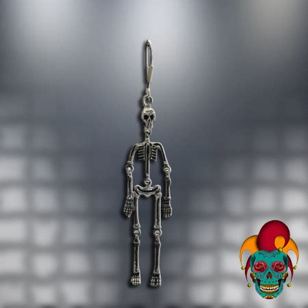 tattoo parlor earrings dangling skeleton silver earrings village tattoo nyc