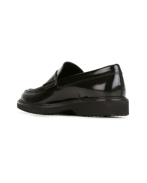 rubber sole loafers rubber sole loafers in black for lyst