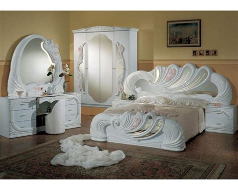 classic bedroom set made in italy white finish 44b8411w
