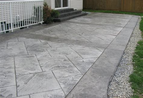 Stamped Concrete Patio Pictures And Ideas Grey Stamped