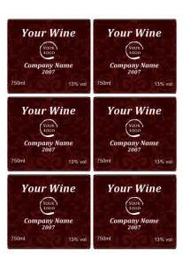 Free Custom Label Templates by Wine Label Template Personilize Your Own Wine Labels