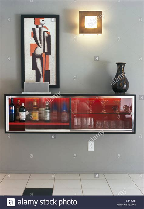 The Modern Dining Room picture above wall mounted drinks cabinet in modern gray