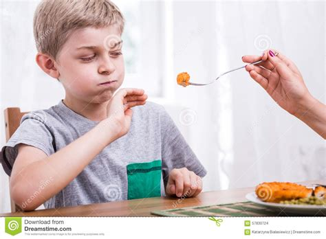 what to feed a child refusing to eat dinner stock photo image 57830724