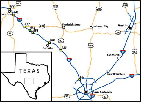 texas mile marker map figure 1 index map of the junction kerrville area texas this paper focuses on those