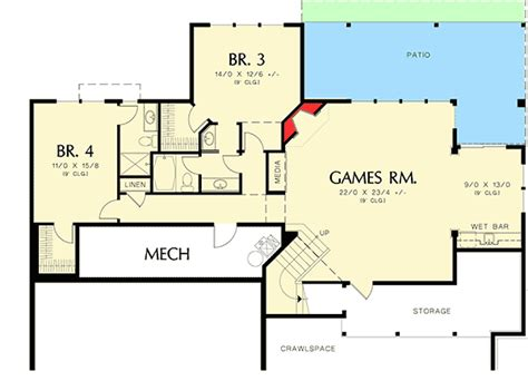 prairie style floor plans modern prairie style home plan 6966am architectural