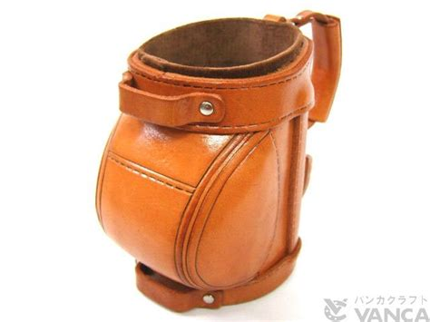 golf bag handmade leather eyeglasses holder stand