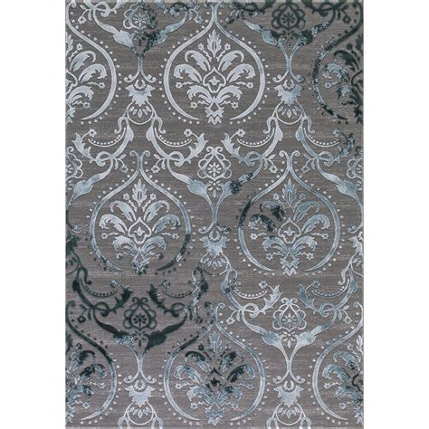 teal damask rug concord global trading thema large damask teal 6 ft 7 in