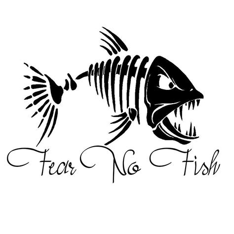 hunting decals car window stickers decal junky fear no fish hunting fishing car truck window decal