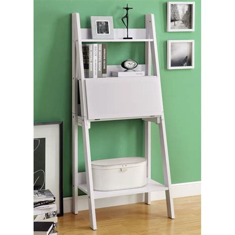 ladder style bookcases edith ladder style bookcase drop desk white dcg