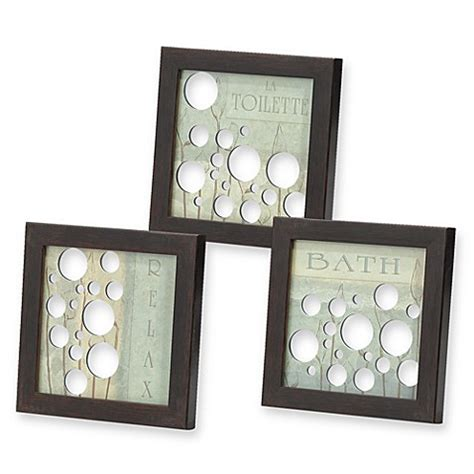 bed bath beyond wall decor mirrored bath bubbles wall art set of 3 bed bath beyond