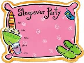 sleepover invitations theruntime