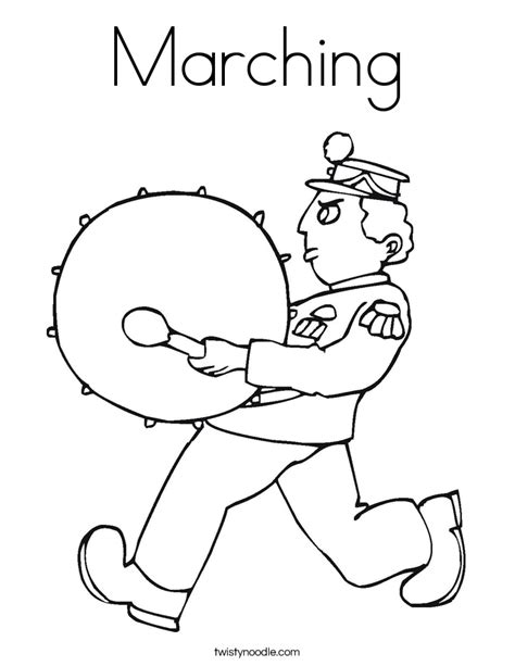 Marching Coloring Page Twisty Noodle Marching Band Coloring Pages