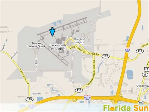 florida airport map jacksonville international airport