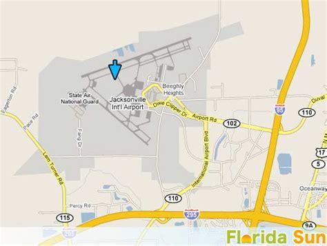 Jacksonville International Airport Rental Car Map