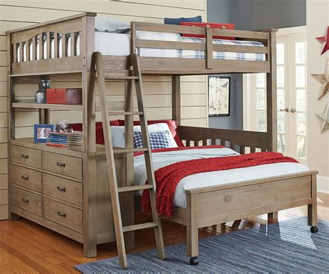 10080 full size loft bed with full size lower bed