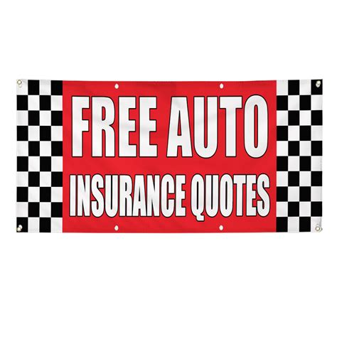 Free Car Insurance Quotes by Free Auto Insurance Quotes Auto Shop Car Banner Sign
